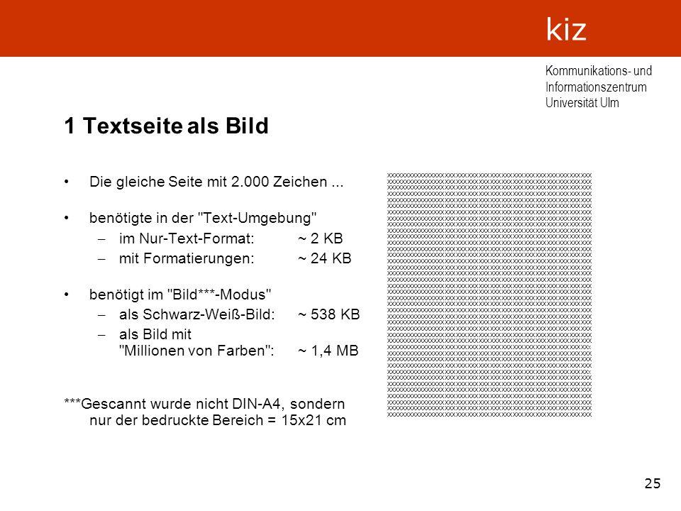 1 Textseite als Bild Die gleiche Seite mit 2.000 Zeichen ...