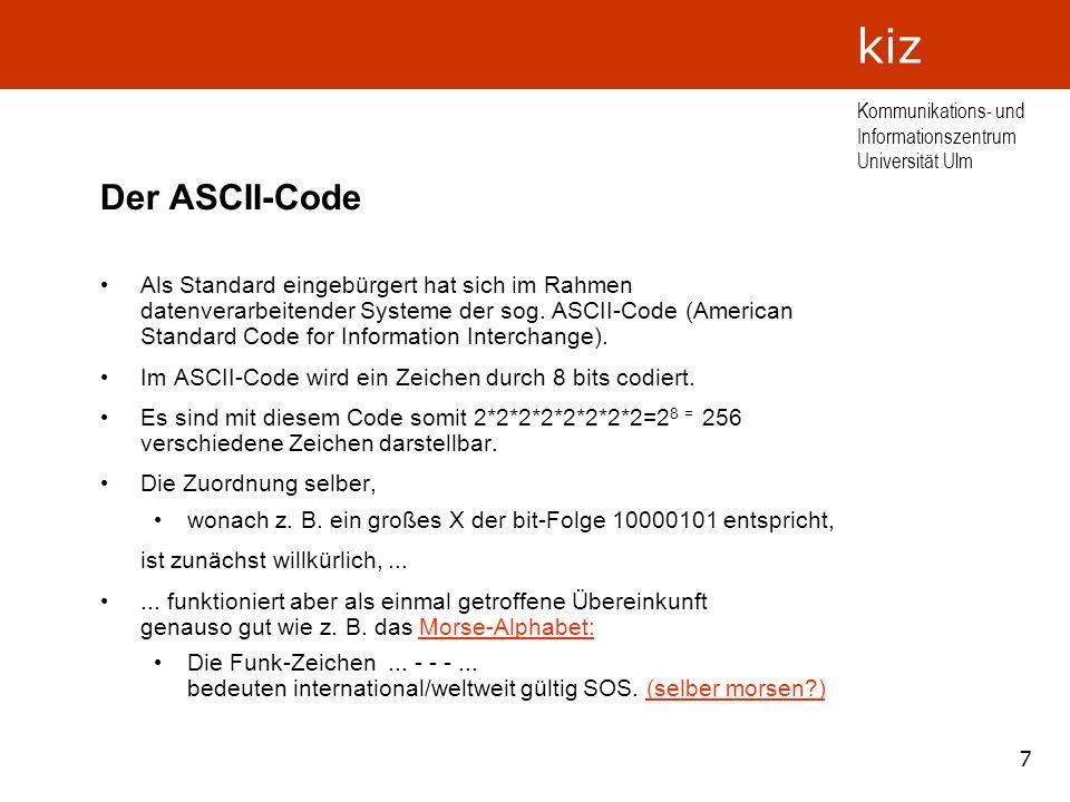 Der ASCII-Code