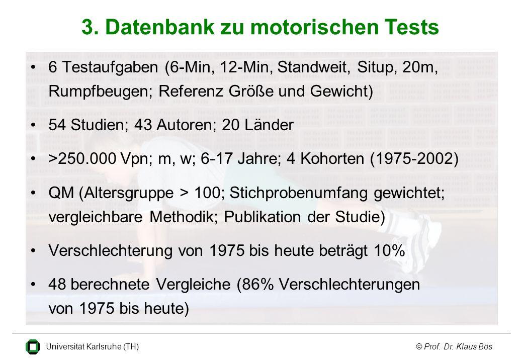3. Datenbank zu motorischen Tests