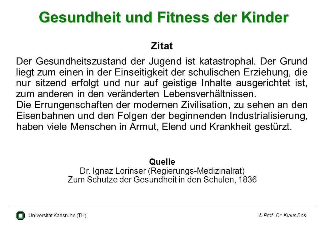 Gesundheit und Fitness der Kinder