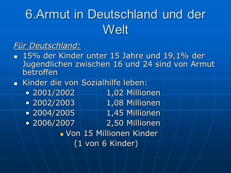 6.Armut in Deutschland und der Welt