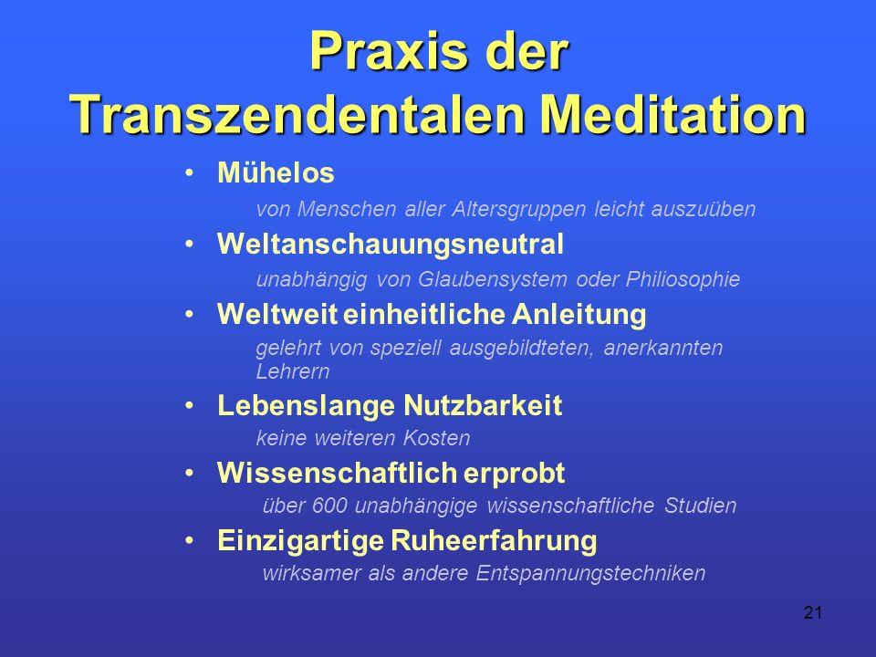 Praxis der Transzendentalen Meditation
