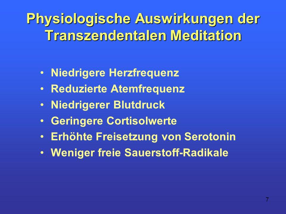 Physiologische Auswirkungen der Transzendentalen Meditation