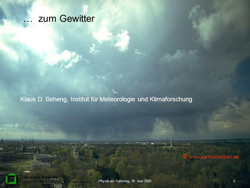 Klaus D. Beheng, Institut für Meteorologie und Klimaforschung