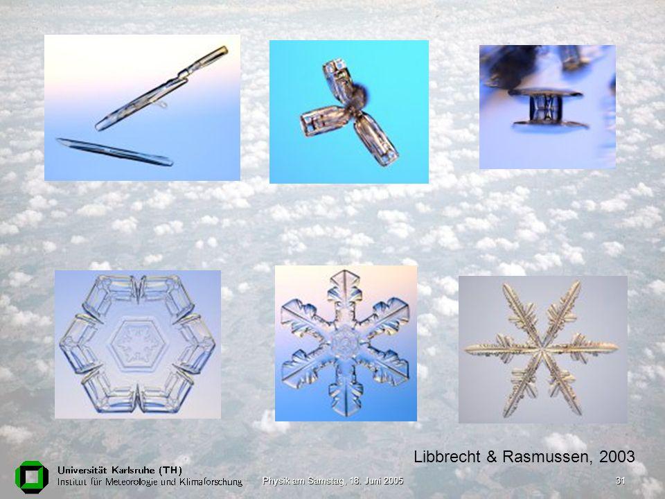Libbrecht & Rasmussen, 2003 Physik am Samstag, 18. Juni 2005