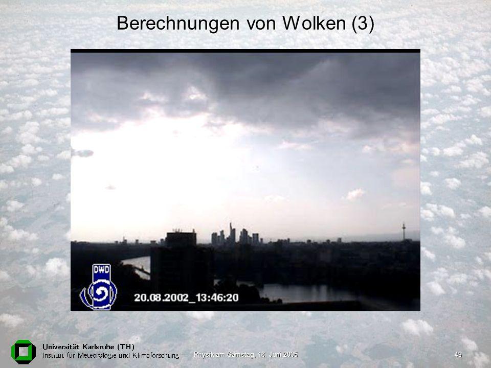 Berechnungen von Wolken (3)
