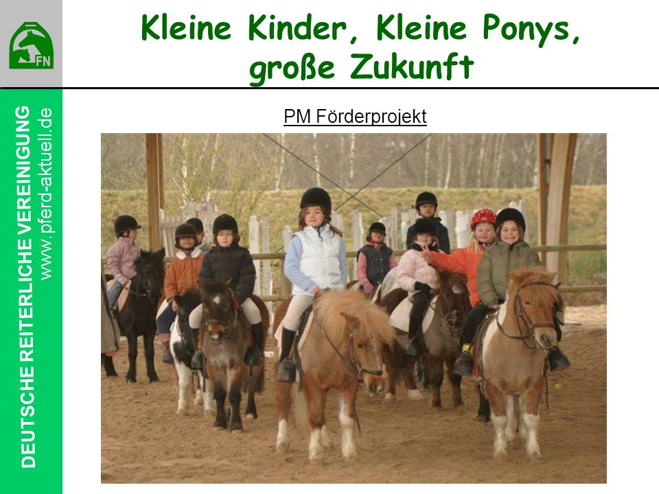 Kleine Kinder, Kleine Ponys, große Zukunft