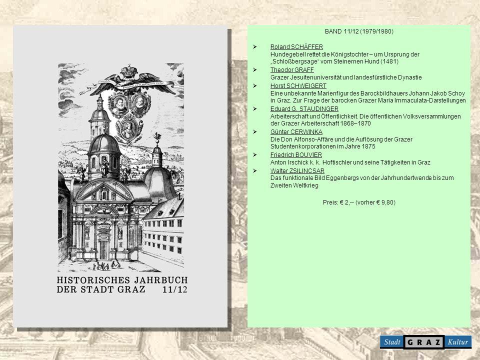 """BAND 11/12 (1979/1980) Roland SCHÄFFER Hundegebell rettet die Königstochter – um Ursprung der """"Schloßbergsage vom Steinernen Hund (1481)"""