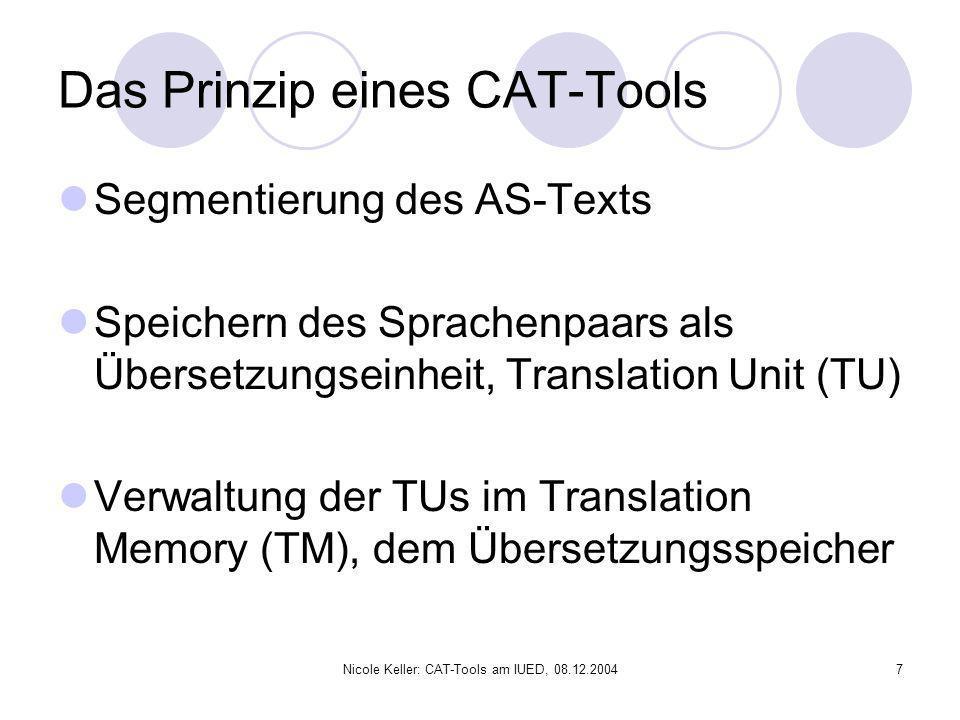 Das Prinzip eines CAT-Tools