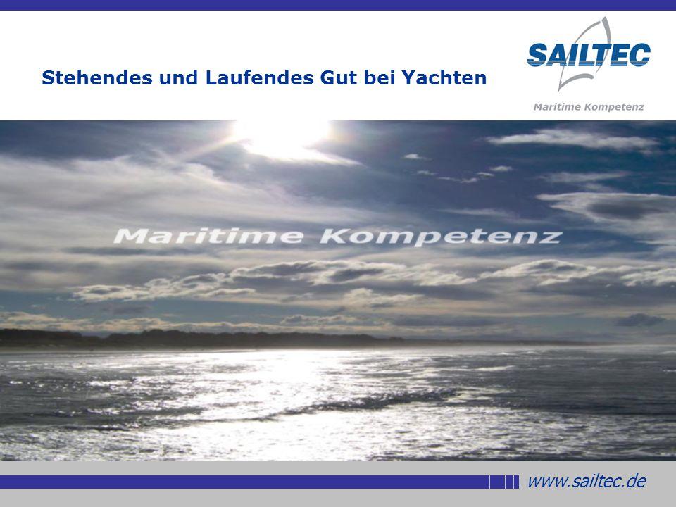 Stehendes und Laufendes Gut bei Yachten