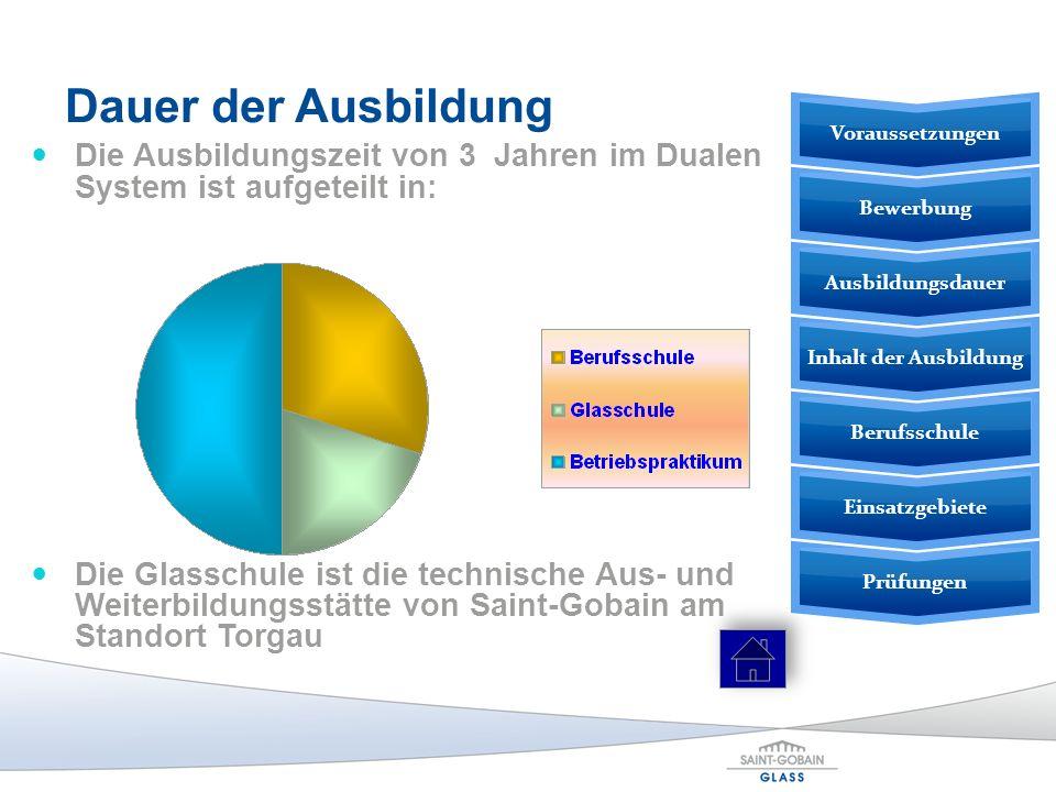 Dauer der Ausbildung Voraussetzungen. Die Ausbildungszeit von 3 Jahren im Dualen System ist aufgeteilt in: