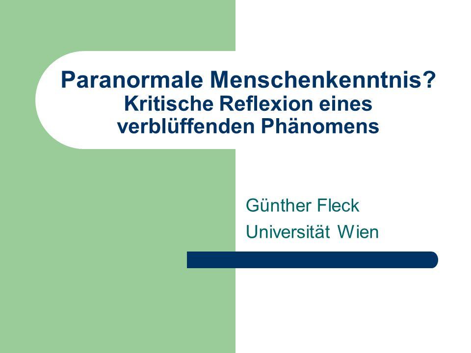 Günther Fleck Universität Wien