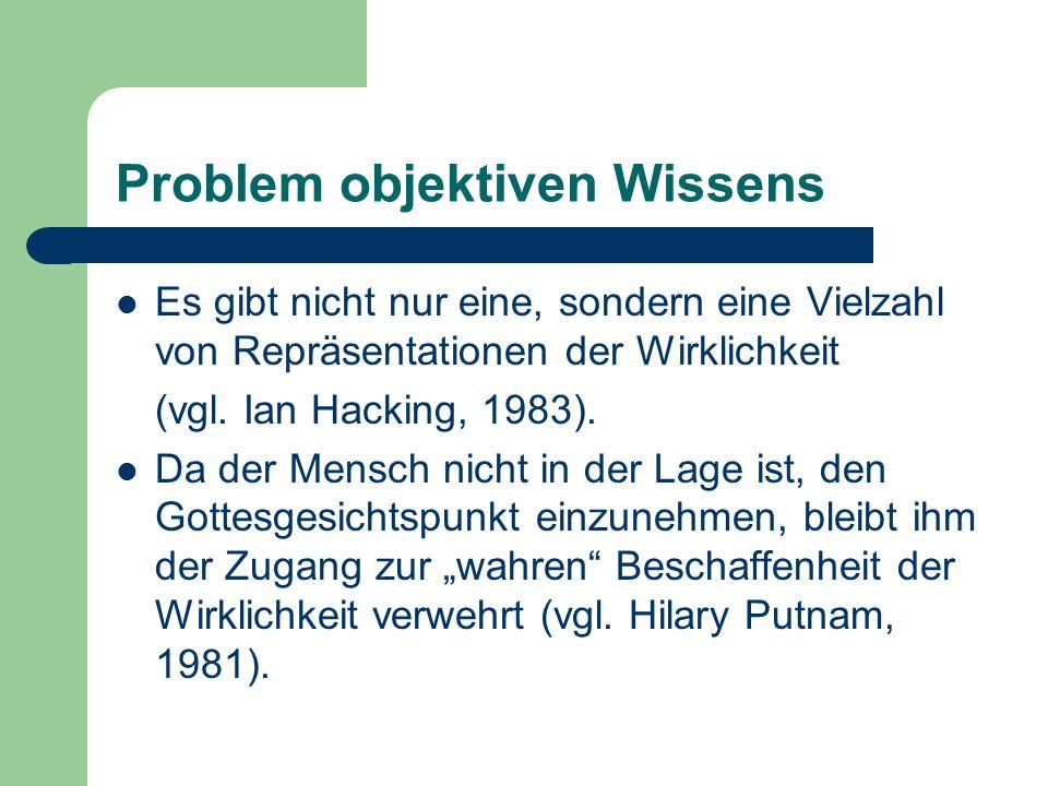 Problem objektiven Wissens