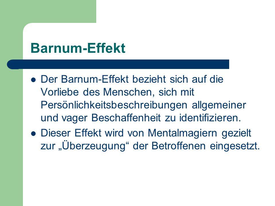 Barnum-Effekt