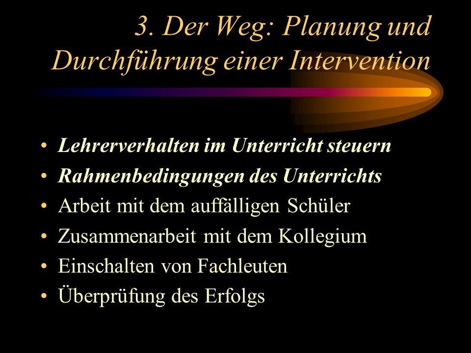 3. Der Weg: Planung und Durchführung einer Intervention