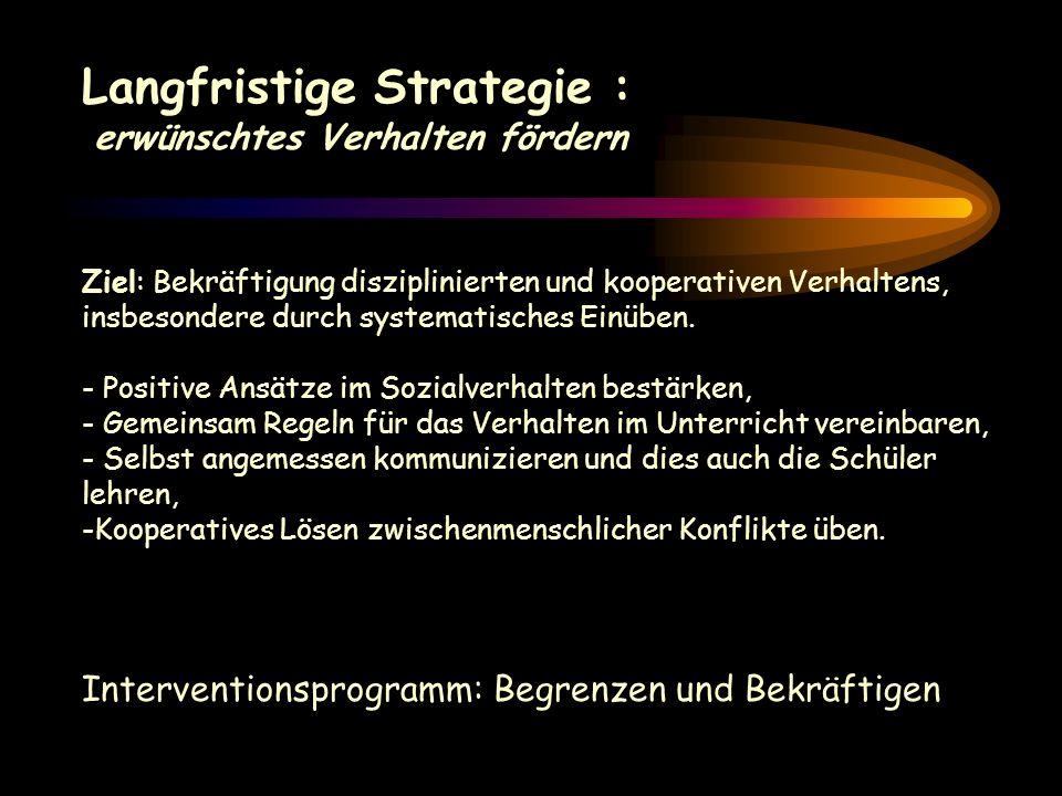 Langfristige Strategie :