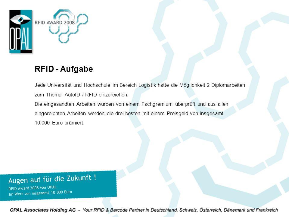 RFID - Aufgabe Augen auf für die Zukunft !