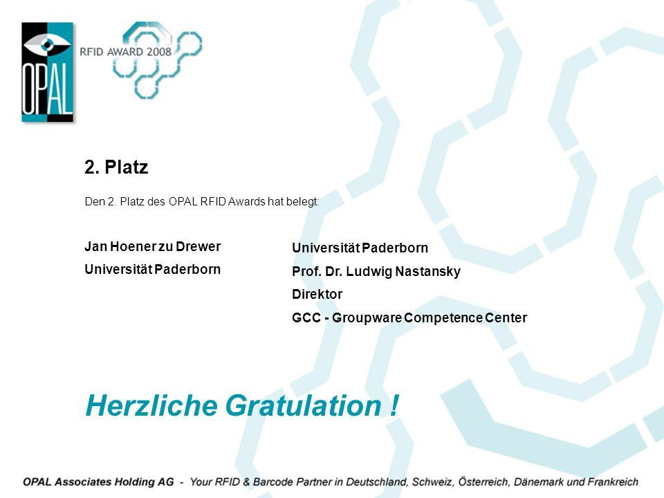 Herzliche Gratulation !