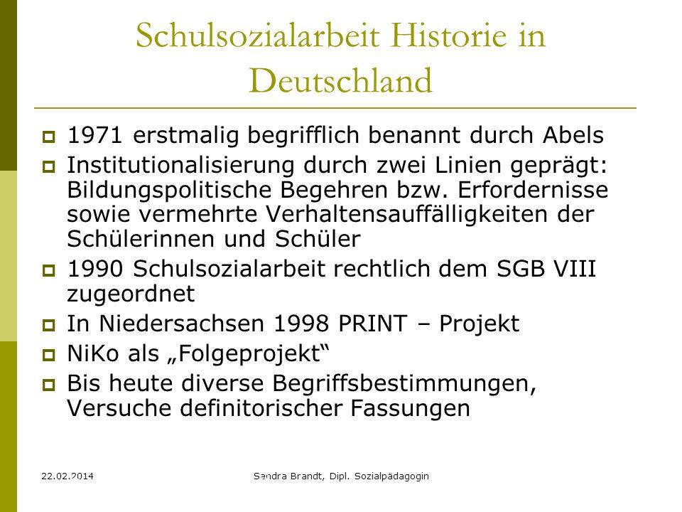 Schulsozialarbeit Historie in Deutschland