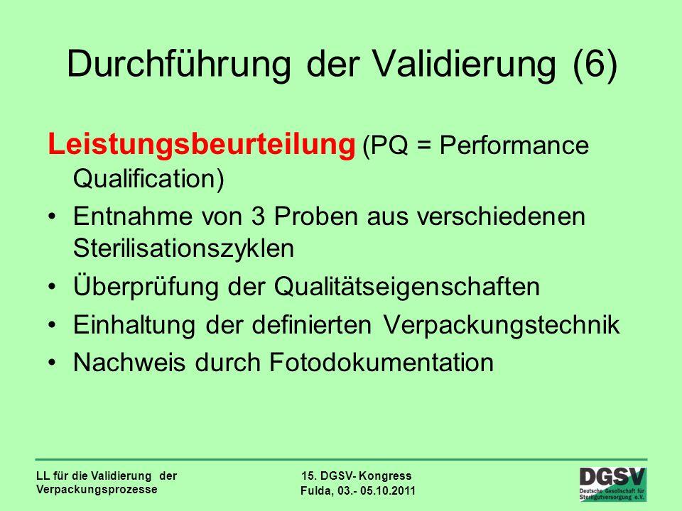 Durchführung der Validierung (6)