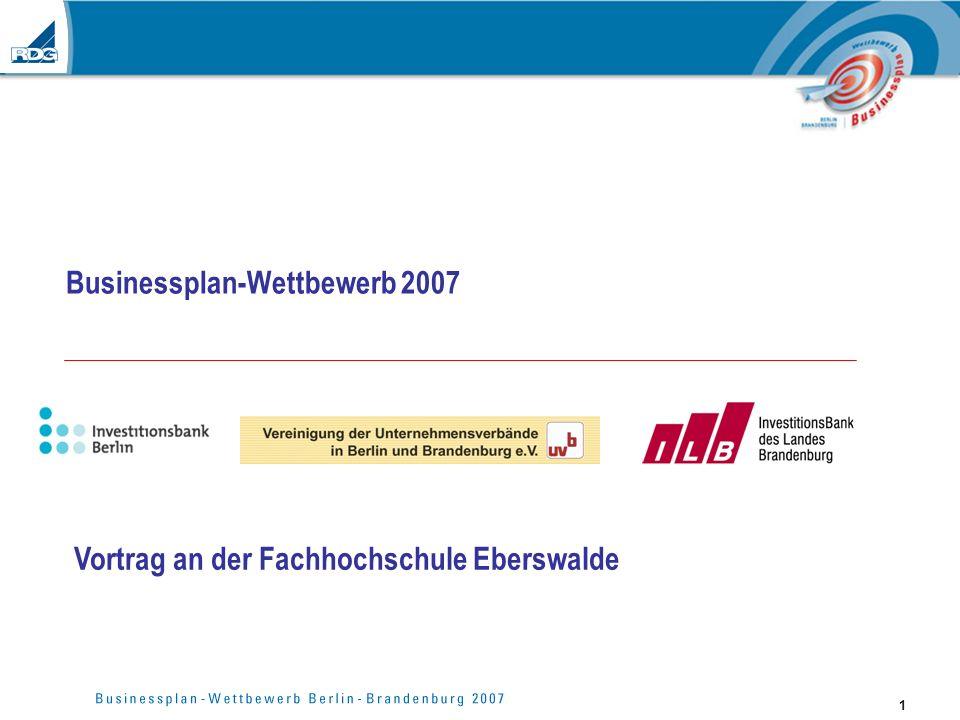 Businessplan-Wettbewerb 2007