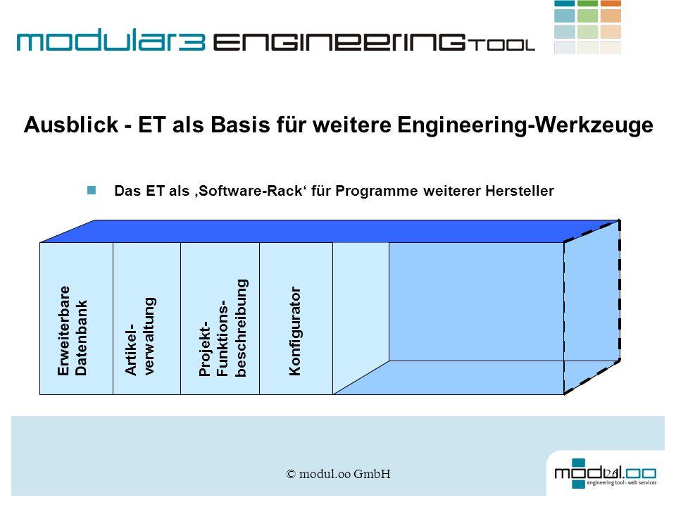 Ausblick - ET als Basis für weitere Engineering-Werkzeuge