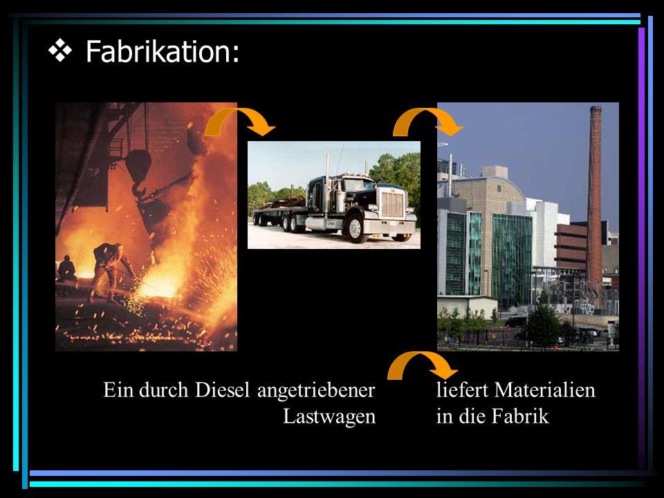 Fabrikation: Ein durch Diesel angetriebener Lastwagen