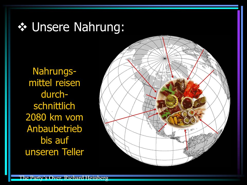 Unsere Nahrung: Food travels an average of 2080 km from farm to plate