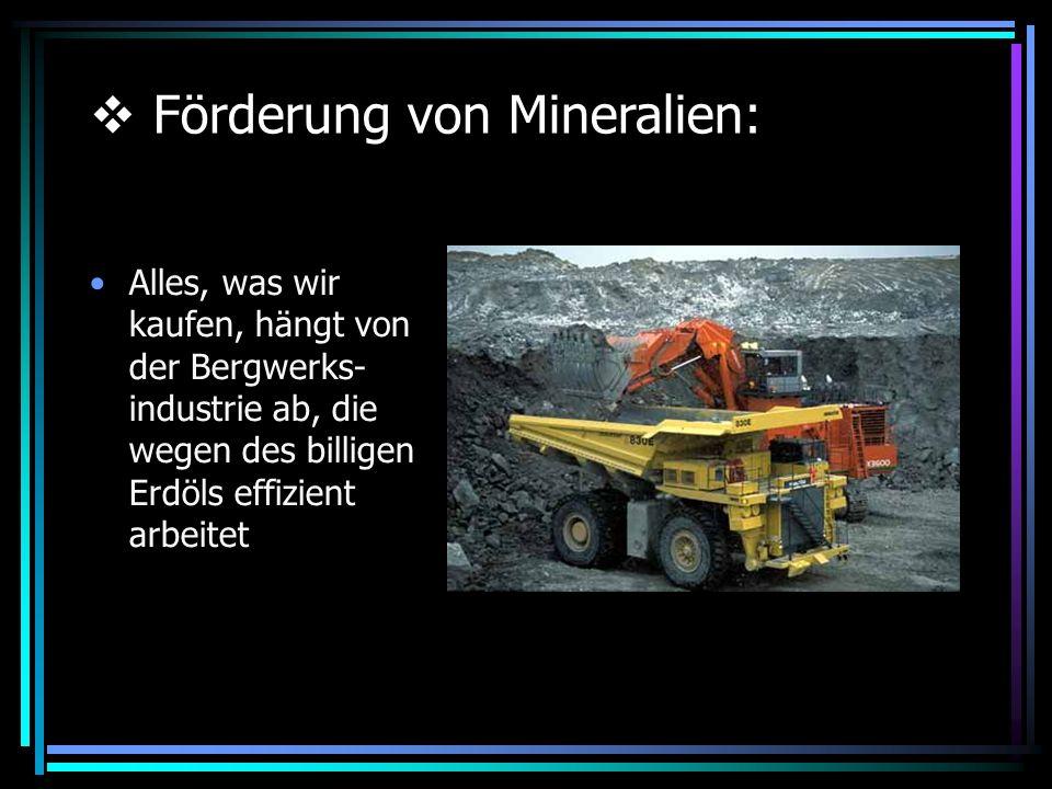 Förderung von Mineralien:
