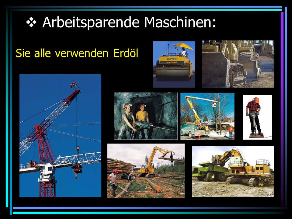 Arbeitsparende Maschinen: