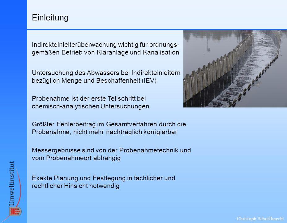Einleitung Indirekteinleiterüberwachung wichtig für ordnungs-gemäßen Betrieb von Kläranlage und Kanalisation.