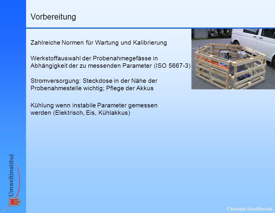 Vorbereitung Zahlreiche Normen für Wartung und Kalibrierung