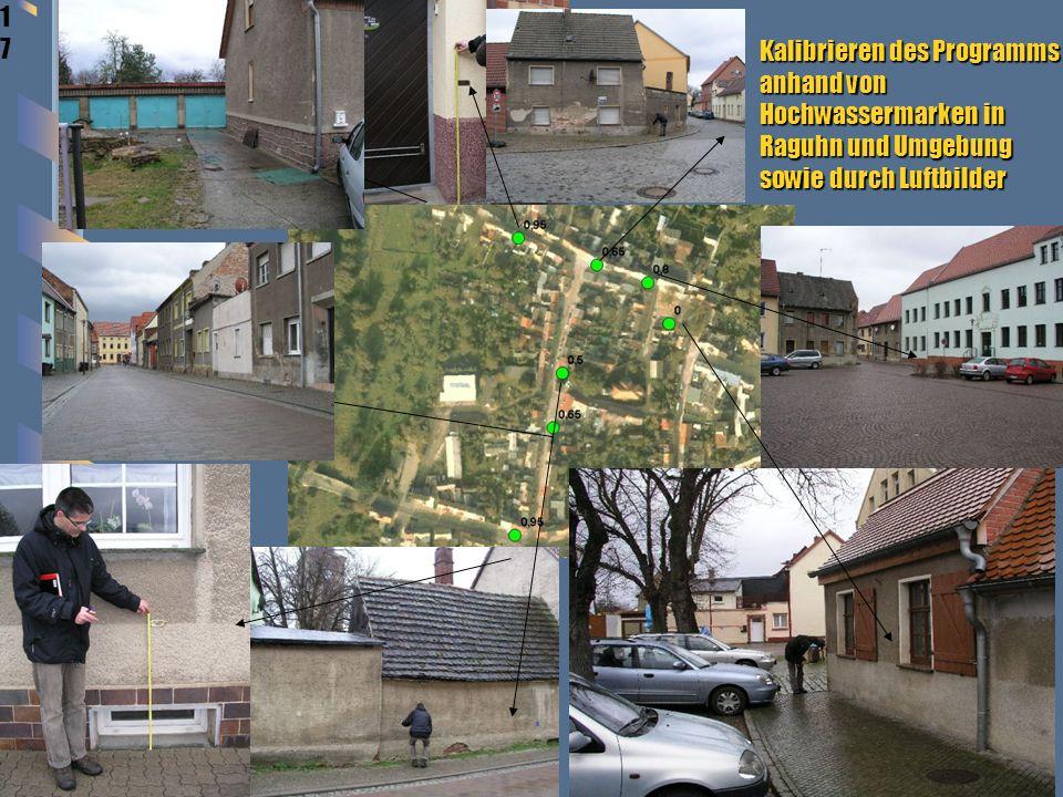 1717 1717 Kalibrieren des Programms anhand von Hochwassermarken in