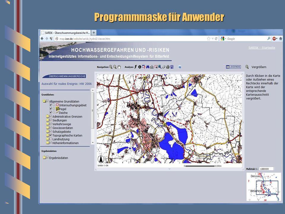 Programmmaske für Anwender