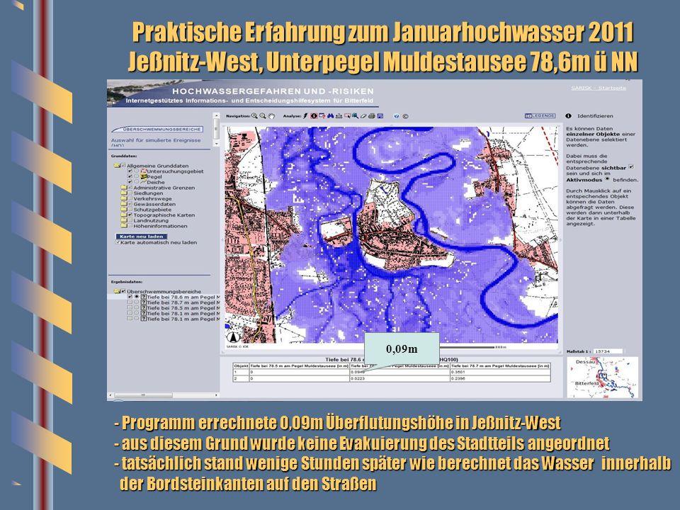 Praktische Erfahrung zum Januarhochwasser 2011