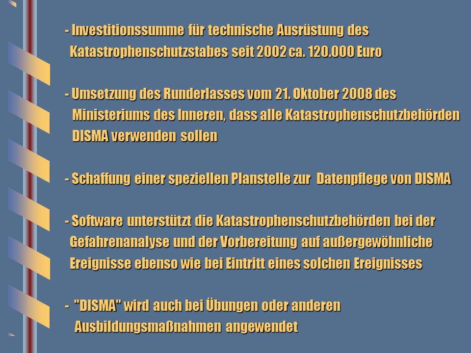 3 - Investitionssumme für technische Ausrüstung des