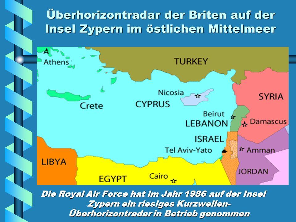 Überhorizontradar der Briten auf der Insel Zypern im östlichen Mittelmeer