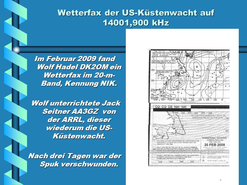 Wetterfax der US-Küstenwacht auf 14001,900 kHz