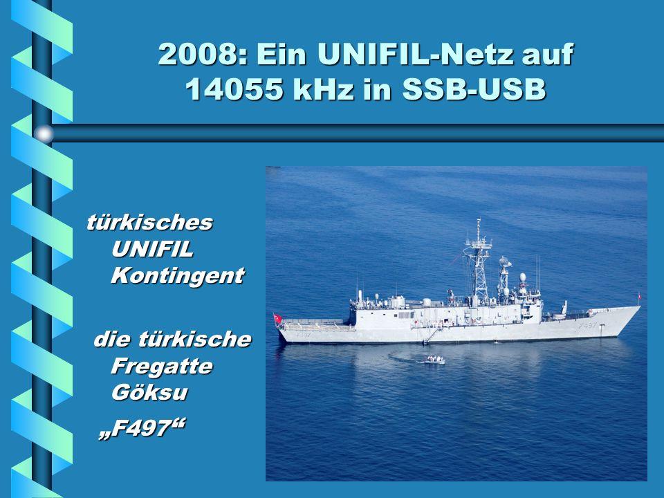 2008: Ein UNIFIL-Netz auf 14055 kHz in SSB-USB