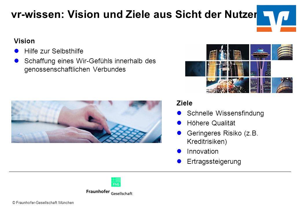vr-wissen: Vision und Ziele aus Sicht der Nutzer