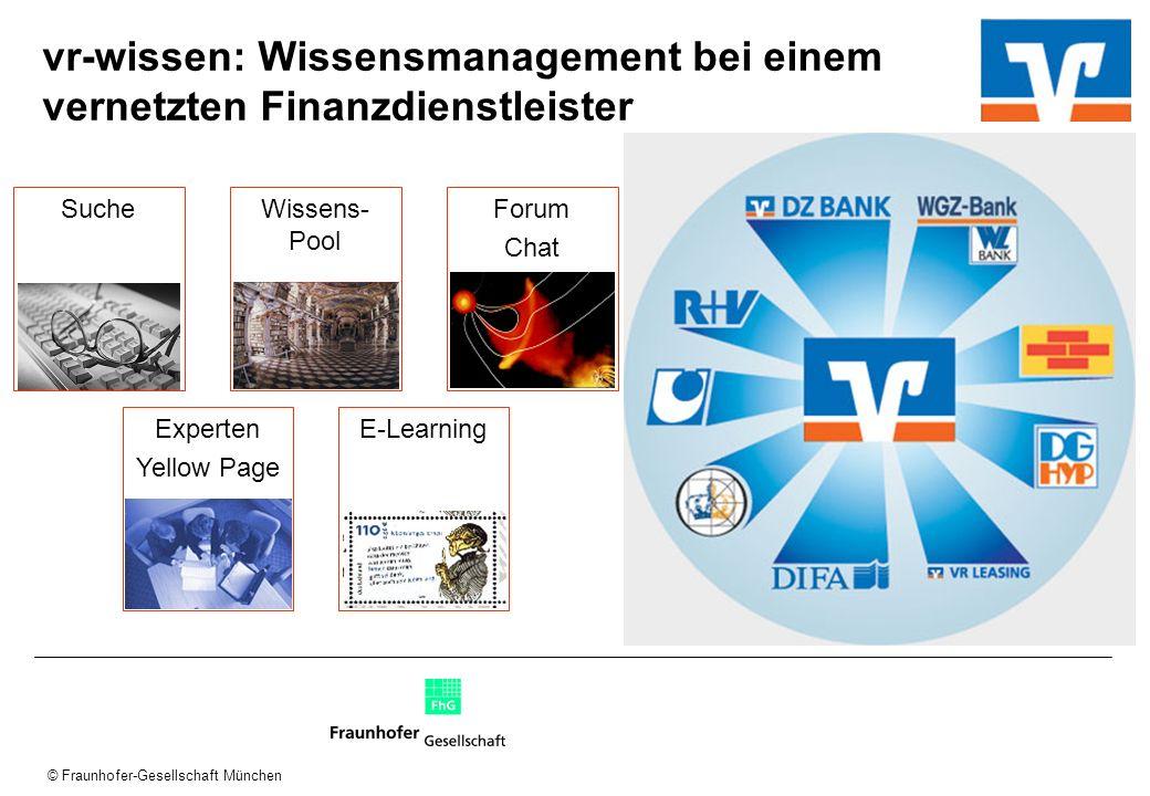 vr-wissen: Wissensmanagement bei einem vernetzten Finanzdienstleister