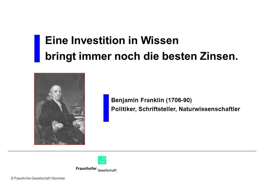 Eine Investition in Wissen bringt immer noch die besten Zinsen.