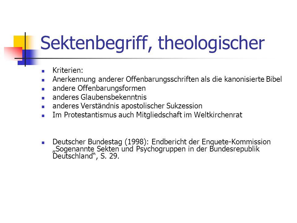 Sektenbegriff, theologischer