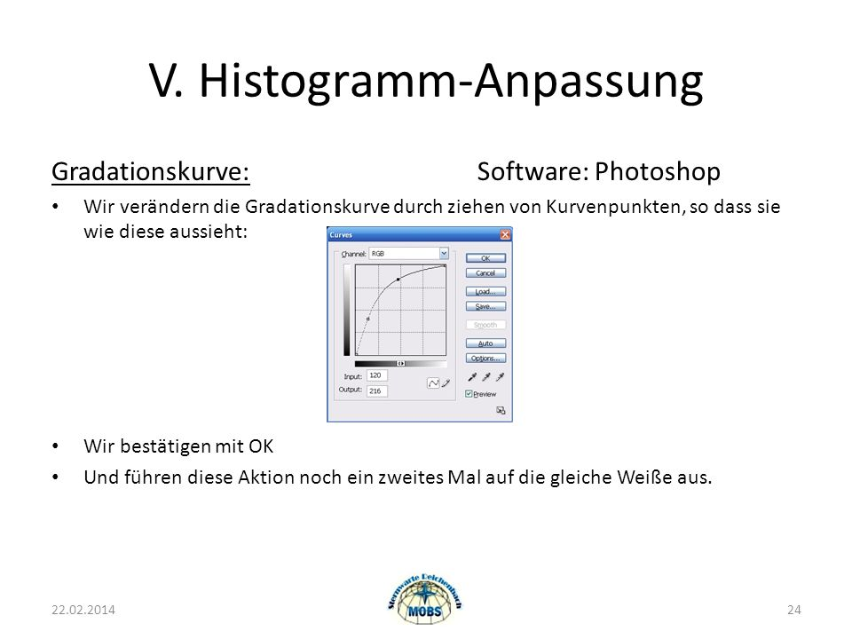 V. Histogramm-Anpassung