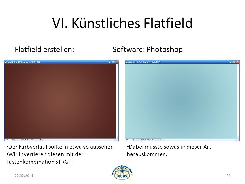 VI. Künstliches Flatfield