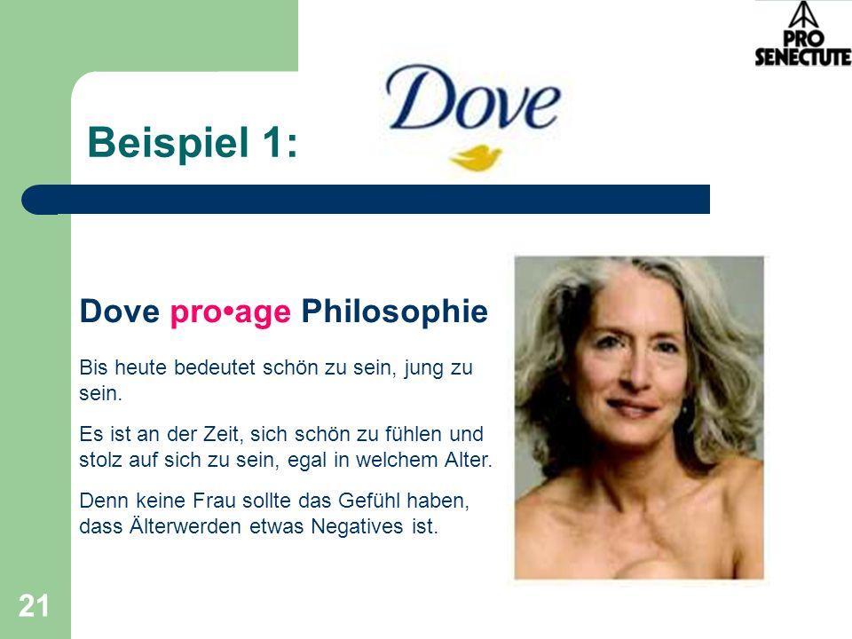 Beispiel 1: Dove pro•age Philosophie