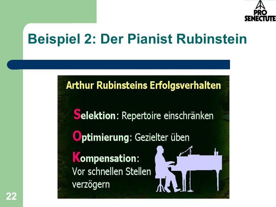Beispiel 2: Der Pianist Rubinstein