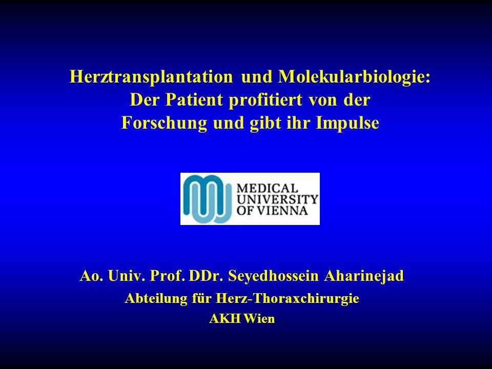 Herztransplantation und Molekularbiologie: Der Patient profitiert von der Forschung und gibt ihr Impulse