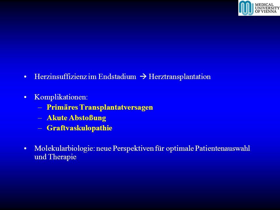 Herzinsuffizienz im Endstadium  Herztransplantation