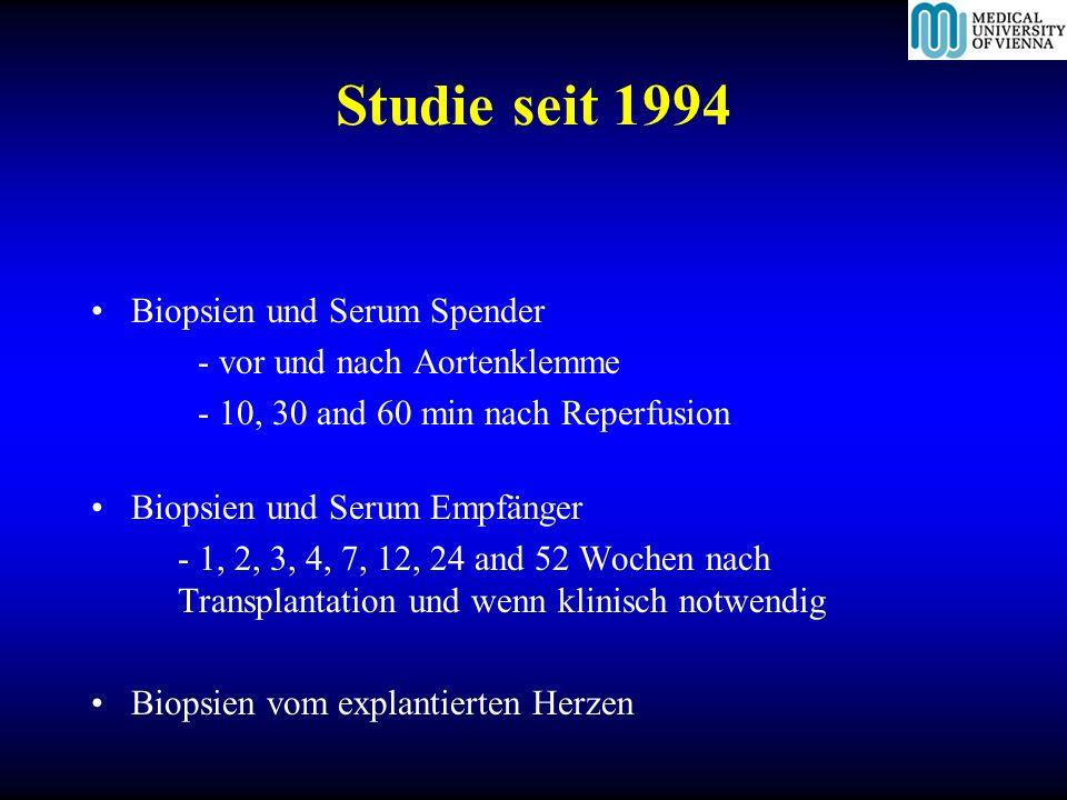Studie seit 1994 Biopsien und Serum Spender